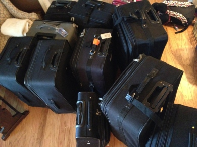 Bags in living room
