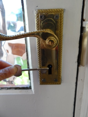 Front door lock and key