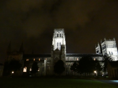 The Durham Cathedral from Palace Green.  Some of Rob's libraries, department offices, and study spaces are on or near Palace Green.