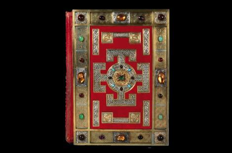 Victorian front cover of Lindisfarne Gospels Copyright ©The British Library Board