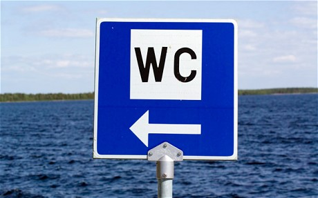 This way to the WC.