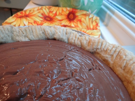 "I still like to ""decorate"" my chocolate pies so that it lives up to its name."
