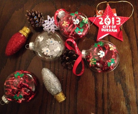A sampling of the ornaments so far.