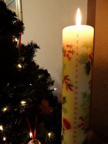 English Advent Candle
