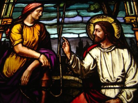 "Jesus and the ""woman at the well.""  He crossed lines of racism and sexism to show that no one is beyond God's love.  Read about in John's Gospel, chapter 4."