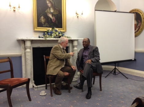 Richard Adams (l) and Joel Edwards at St. John's College on Monday 09 December 2013.