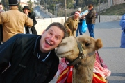 Camels have always liked me, for some reason.  This one gave me a kiss while we were taking in the sights from the Mount of Olive in Jerusalem, Israel.