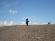 Rob surveying his flocks and herds in the Judaean Wilderness, Israel.  From the hump of a camel's back, of course.