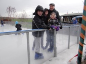 The first time for the whole family to be on the ice together.