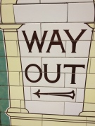 A sign from the Tube showing you the way.