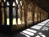 I like to divert through the cloisters on my way around campus.