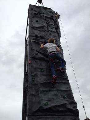 The British Army helped children learn to rock climb. Meg caught the climbing bug and couldn't stop!