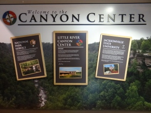 Canyon Center - A great place to start your visit and they allow dogs inside.