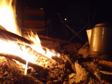 A lovely fire to close the day
