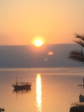 Sunrise over the Sea of Galilee. Our view each morning at breakfast.