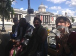 Calvin and Ramona joined us for lunch in Trafalgar Square