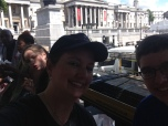 lunch at Trafalgar Square